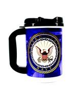 USA NAVY MILITARY - NAVY TRAVEL TUMBLER INSULATED COFFEE MUG CUP 20oz W/... - £8.71 GBP
