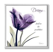 Stupell Home Décor Dream Purple Flower X-ray Art Wall (Dream, Purple Flo... - $35.95