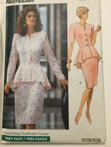 Butterick Sewing Pattern 4553 Fast Easy Top Straight Skirt Career Outfit... - $9.00