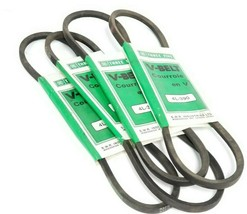 LOT OF 4 NEW THREE FIVE 4L-390 V-BELTS 4L390 TIMING BELT SMOOTH LIGHT DUTY 39IN image 1
