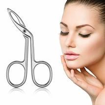 Eyebrow Tweezers, Scissors Shaped Eyebrow Straight Tip Tweezers Clip, Flat Tip T image 7