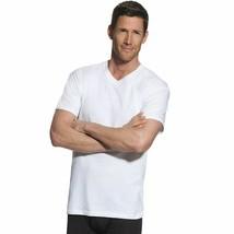 4-Pack Hanes FreshIQ TALL Men's V-Neck T-Shirts - White - LT-3XLT - $18.99