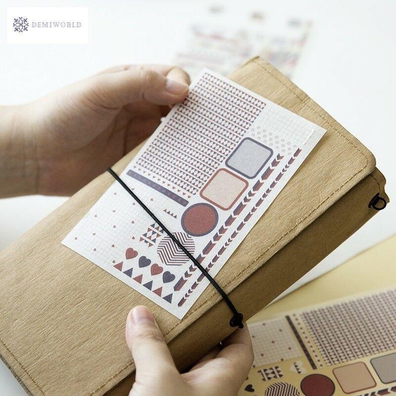 DIY Bullet Journal Decorative Adhesive Sticker, Kids Craft Scrapbooking Cartoon