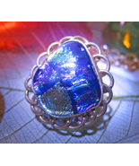 Haunted RING 3X OPEN 3RD EYE CONNECT INDIGO LIGHT MAGICK 925 DICHORIC GL... - $58.77