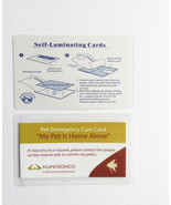 Pet Emergency Cards with Laminating Pouches - Fish (Pack of 2) - $6.50