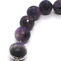 Silver necklace 925, Spheres Large Faceted Amethyst 20 mm, length 50 cm image 4
