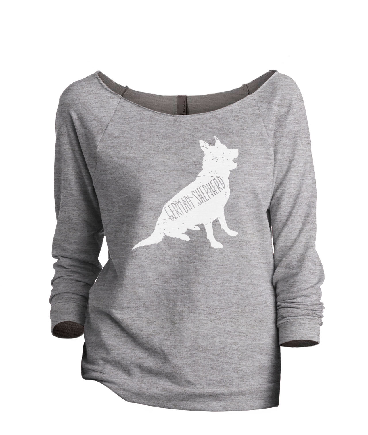 Primary image for Thread Tank German Shepherd Dog Silhouette Women's Slouchy 3/4 Sleeves Raglan Sw