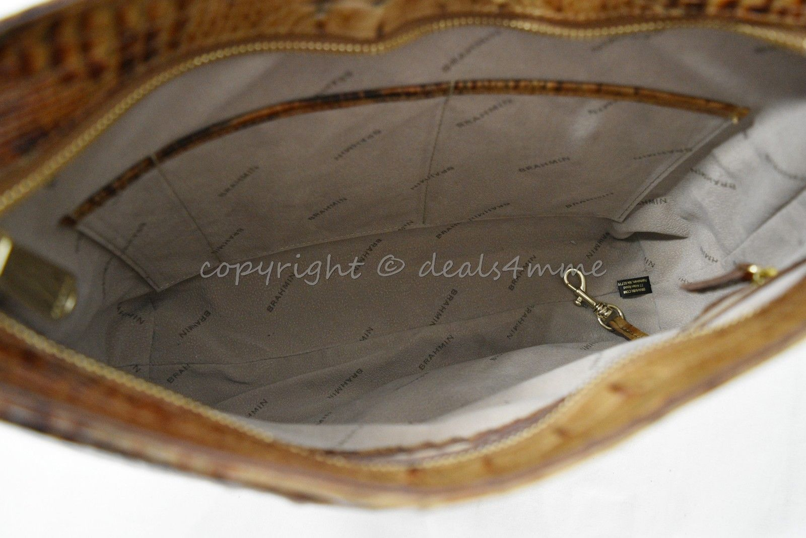 NWT Brahmin Noelle Leather Tote / Shoulder Bag in Toasted Almond Melbourne image 9