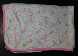 First Impressions Pink White Cotton Blanket Lovey Little Princess Castle... - $30.73 CAD