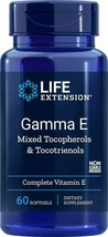 NEW Life Extension Gamma E Mixed Tocopherols & Tocotrienols Vitamin E 60 Sgels - $30.31