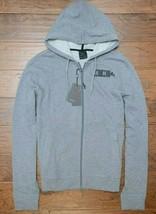 Armani Exchange A X Mens Full Zip Light Gray Cotton Hooded Jacket Hoodie 2XL - $49.11