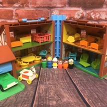 Vintage Fisher Price Little People Play Family House Brown Tudor #952 Co... - $85.00