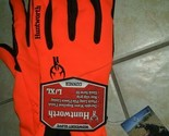 Huntworth Gunner Stealth Blaze Orange Men's Gloves L/XL Water Repellent Non-Slip