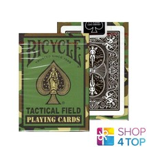 Bicycle Tactical Field Playing Cards Deck Poker Magic Green Camo Uspcc New - $7.62