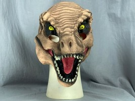 Jurassic Park World T-Rex 3/4 Latex Mask Adult Halloween Universal Studios - £15.02 GBP