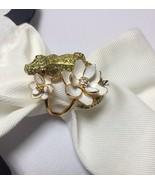 KATE SPADE 12K Gold Plated Swamped Pave Alligator Ring, Size 7 w/ KS Dus... - $52.99