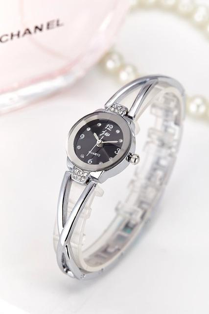 New Fashion Rhinestone Watches Women Luxury Brand Stainless Steel Bracelet watch image 2