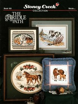 Stoney Creek Leaflet 102 The Bridle Path Horses Colts Cross Stitch - $7.95