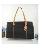 Tory Burch Perry Black Nylon Colorblock Leather Diaper Baby Shoulder Bag... - $271.76