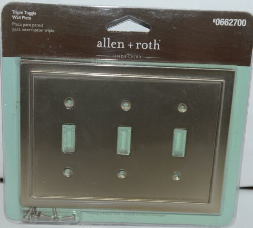 Allen Roth Enderbery 0662700 Triple Toggle Wall Plate with Mounting Hardware Pk1