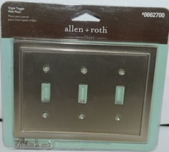 Allen Roth Enderbery 0662700 Triple Toggle Wall Plate with Mounting Hardware Pk1 image 1