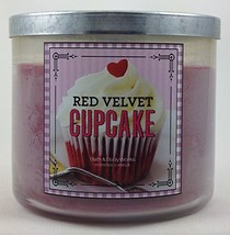 Bath & Body Works Red Velvet Cupcake 3 Wick Scented Candle 14.5 oz./411 g - $39.99