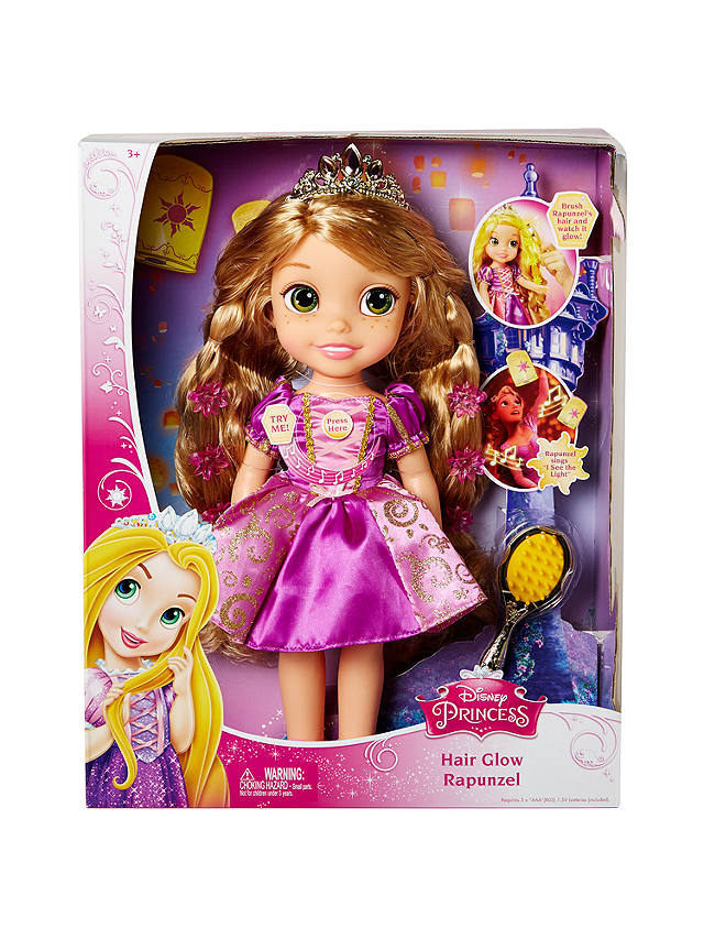 Primary image for Disney Princess Hair Glow Rapunzel Singing Doll with Brush and light up hair
