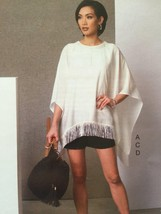 Vogue Sewing Pattern Five Easy Pieces 9191 Poncho Top Shorts Pants Size ... - $23.85