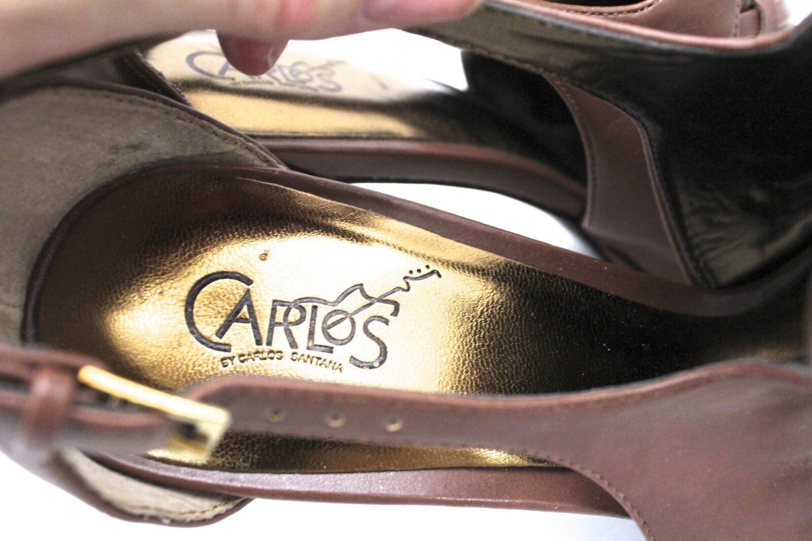 Retail $79.00 NWOB Carlos by Carlos Santana Sandals 10 Legendary Cocoa Brown