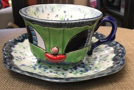 Heidi Bekebrede Cuteware Whimsical Girl's Smiling Face Teacup & Saucer 2... - $48.95