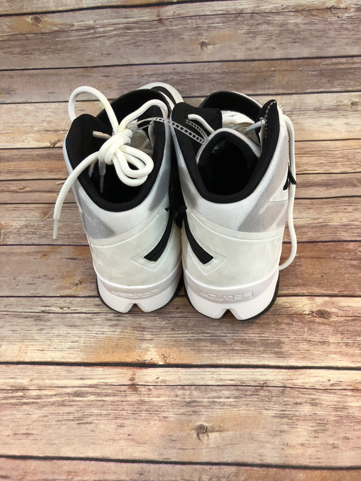 7401a639688fd NIKE 653648-100 LEBRON ZOOM SOLDIER 8 White   Black Basketball Shoes Size 18