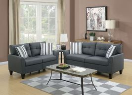 Kicevo 2-Piece Sofa Set in Charcoal Polyfiber - $998.00