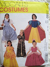 McCall's 2850 Costume Snow White Dorthy Cinderella Milan Bell Girl's Size 7 - $9.95