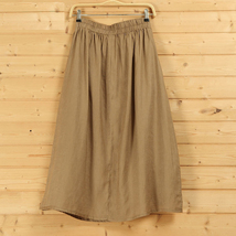 Cotton Linen Wrap Skirts Women A Line Long Casual Skirt, Khaki Army Green Black image 3