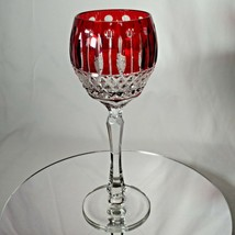 FABERGE XENIA  IMPERIAL RED CASED CUT TO CLEAR CRYSTAL GOBLET | SINGLE - $225.00