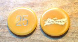 (1) Vintage $25. Budweiser Poker Chip - Bow Tie Chip - $6.95