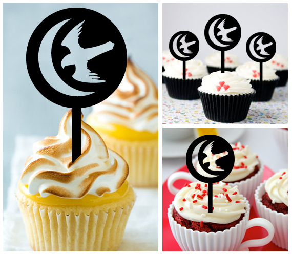 Ca355 Decorations cupcake toppers game of thrones silhouette Package : 10 pcs