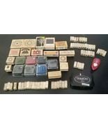 Rubber Stamp Lot,1 full alphabet, many other stamps. large, med, small -... - $19.59