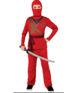 Brotherhood of the Dragon Ninja Child Costume Red Dress Up Large  - $6.92