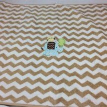 Circo ELEPHANT Baby Blanket Owl Tan Brown White Chevron Zig Zag Stripe  #V2 - $360,87 MXN