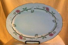 "Thun Natalie Pink Daisies Oval Platter 14"" - $23.39"