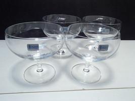 """4 SCHOTT ZWIESEL BAMBOO STEMMED DESSERT GLASSES 4 1/4"""" TALL - $29.95"""