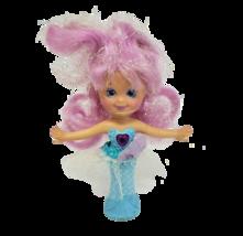 Vintage 1991 Hasbro Secret Beauties Sweet Violet Blue Doll W/ Pink Hair Toy - $27.12