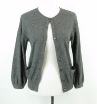 VINCE Size S Heathered Gray Cashmere Cardigan Sweater Mint Cond - $935,46 MXN