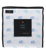 Cynthia Rowley Blue, Turquoise Elephants on White Microfiber Sheet Set T... - $36.00