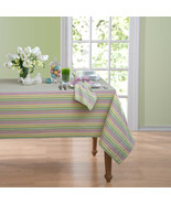Fabric Tablecloth Garden Stripe Pastel Colors New Choose Size - $30.04+