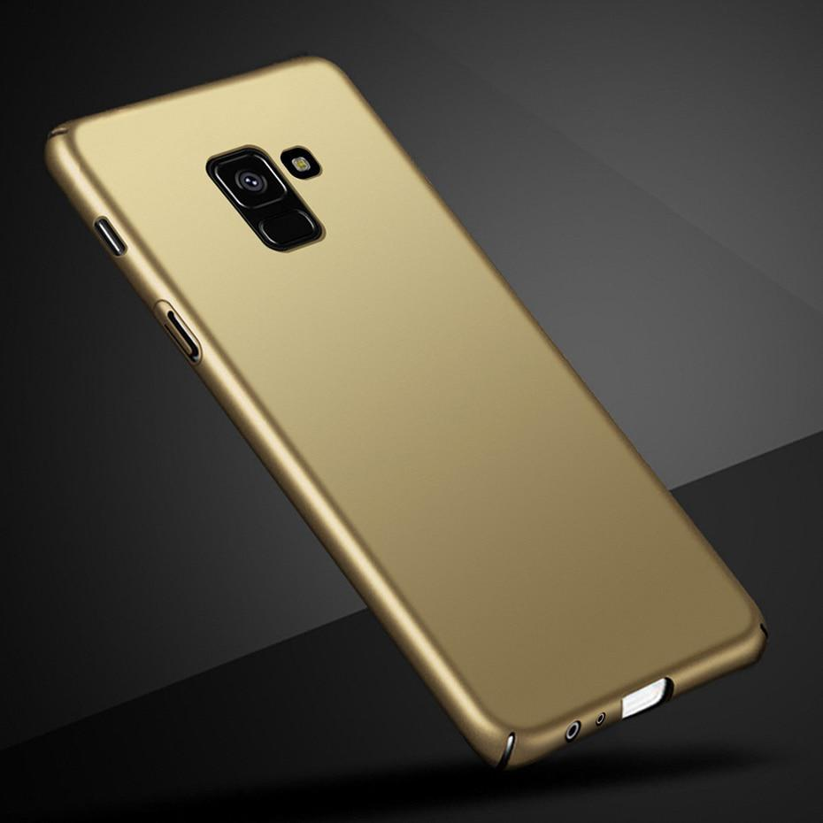 For Samsung Galaxy A8 2018 Case Ultra Thin Hard PC Full Back Cover Matte Cases F