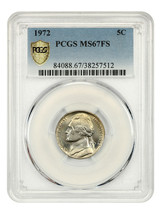 1972 5c PCGS MS67 FS - Tied for Finest Known - Jefferson Nickel - $5,344.70