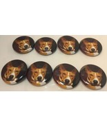 "Set Of 8 ""Red Basenji Face"" Fridge Magnets / 8 Aimants A Frigo ""Basenji ... - $10.66"