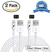 (2 PACK) 10 FT IPhone 6 And 7 Charger Cable - Certified Lightning To USB... - $29.91